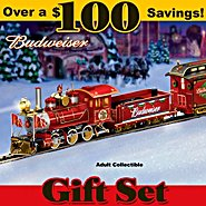 The Bradford Exchange Budweiser Holiday Express Train Gift Set at Sears.com