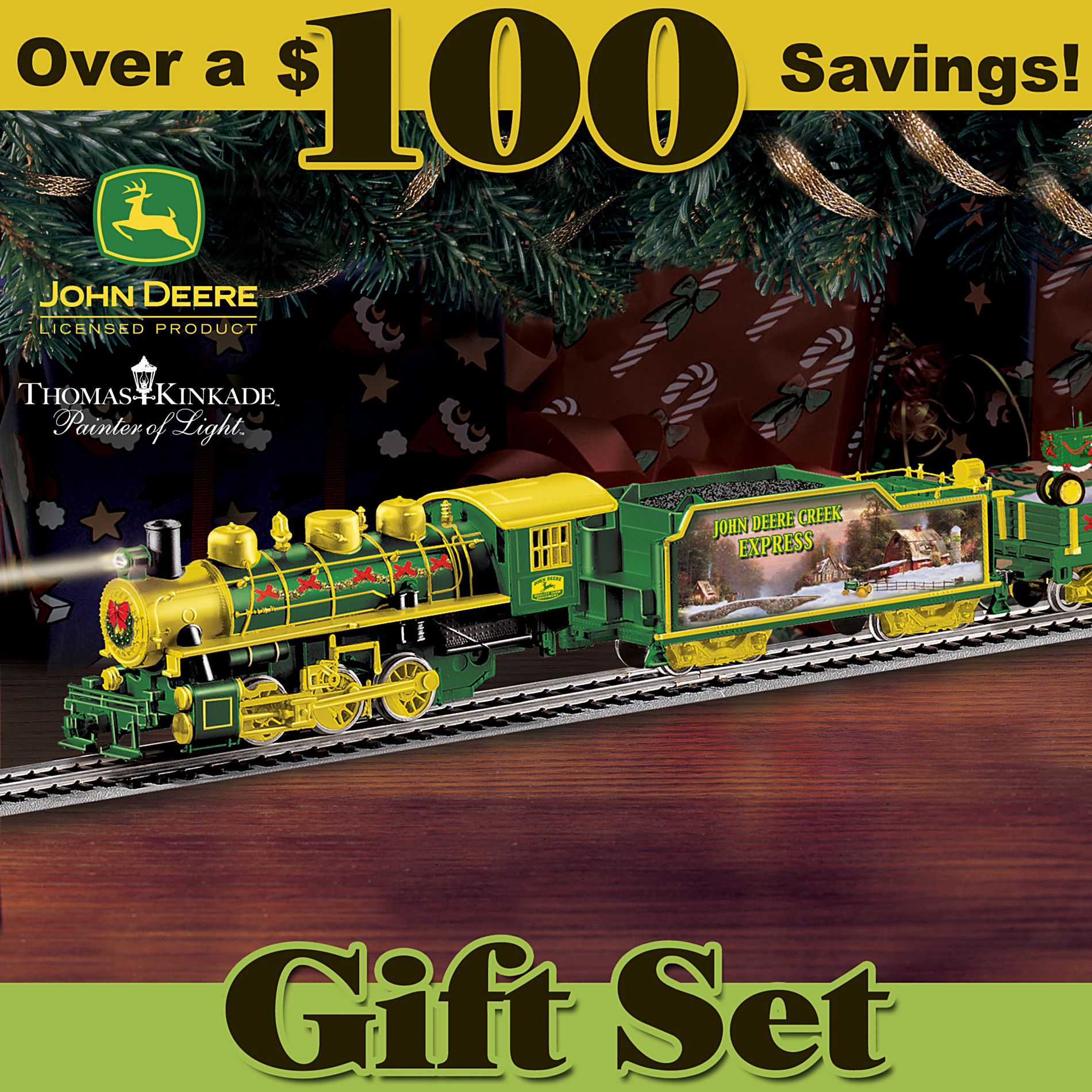 Hawthorne Village John Deere Creek Express: Collectible Holiday Train Set at Sears.com