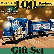 Hawthorne Village Thomas Kinkade Snowtown Express: Collectible Battery-Powered Christmas Train Set at Sears.com