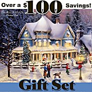 Hawthorne Village Thomas Kinkade Village Christmas Set at Sears.com