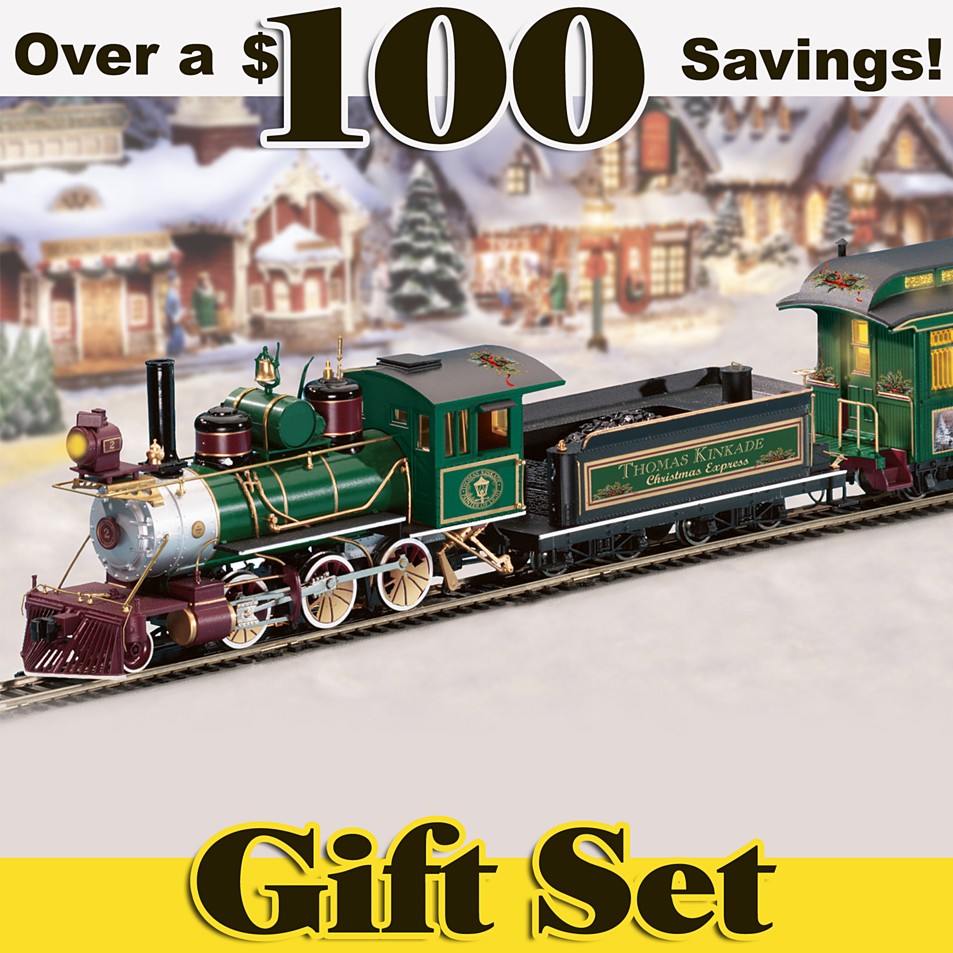 Hawthorne Village Thomas Kinkade's Illuminated Christmas Express Train Set at Sears.com