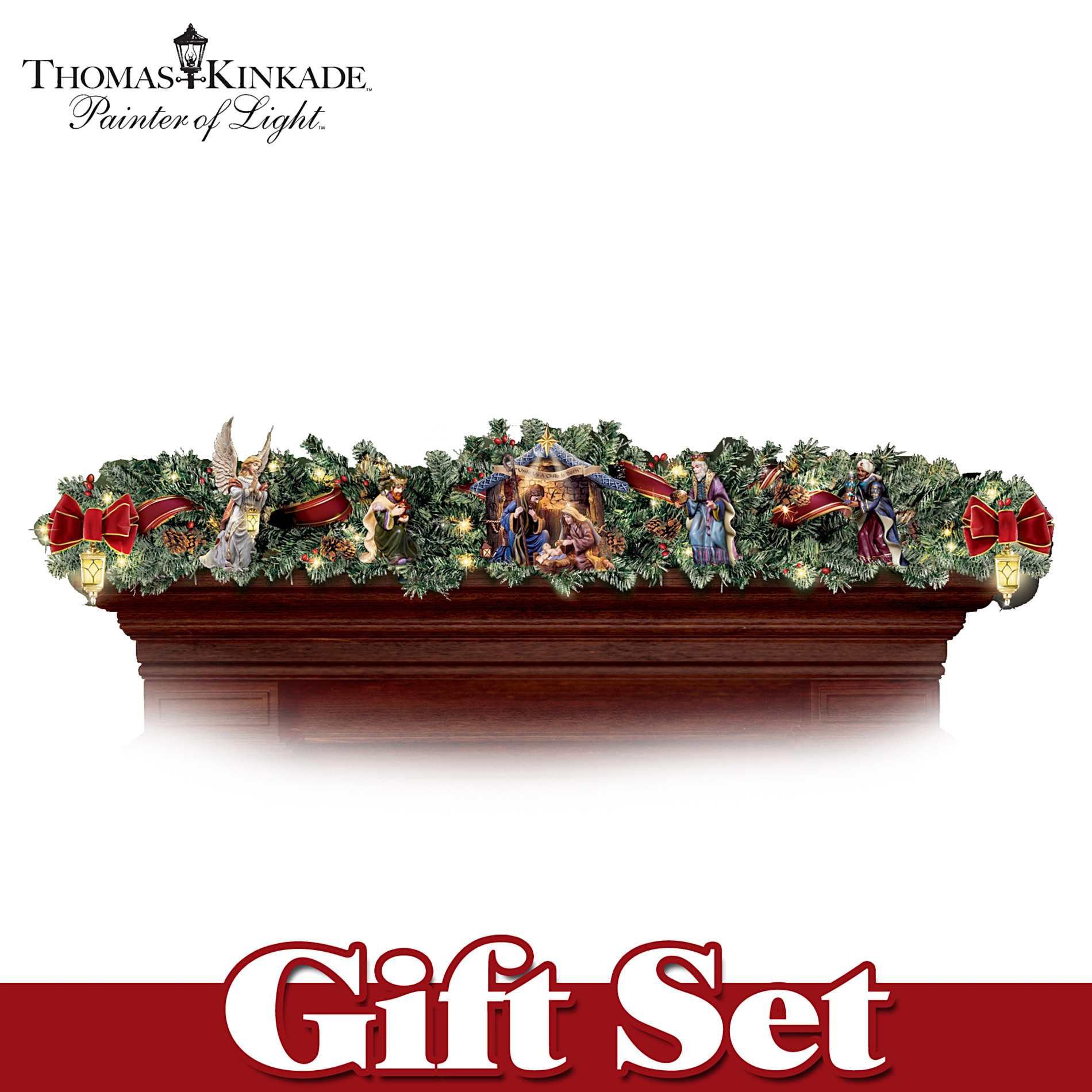 Hawthorne Village Thomas Kinkade Nativity Garland Set at Sears.com