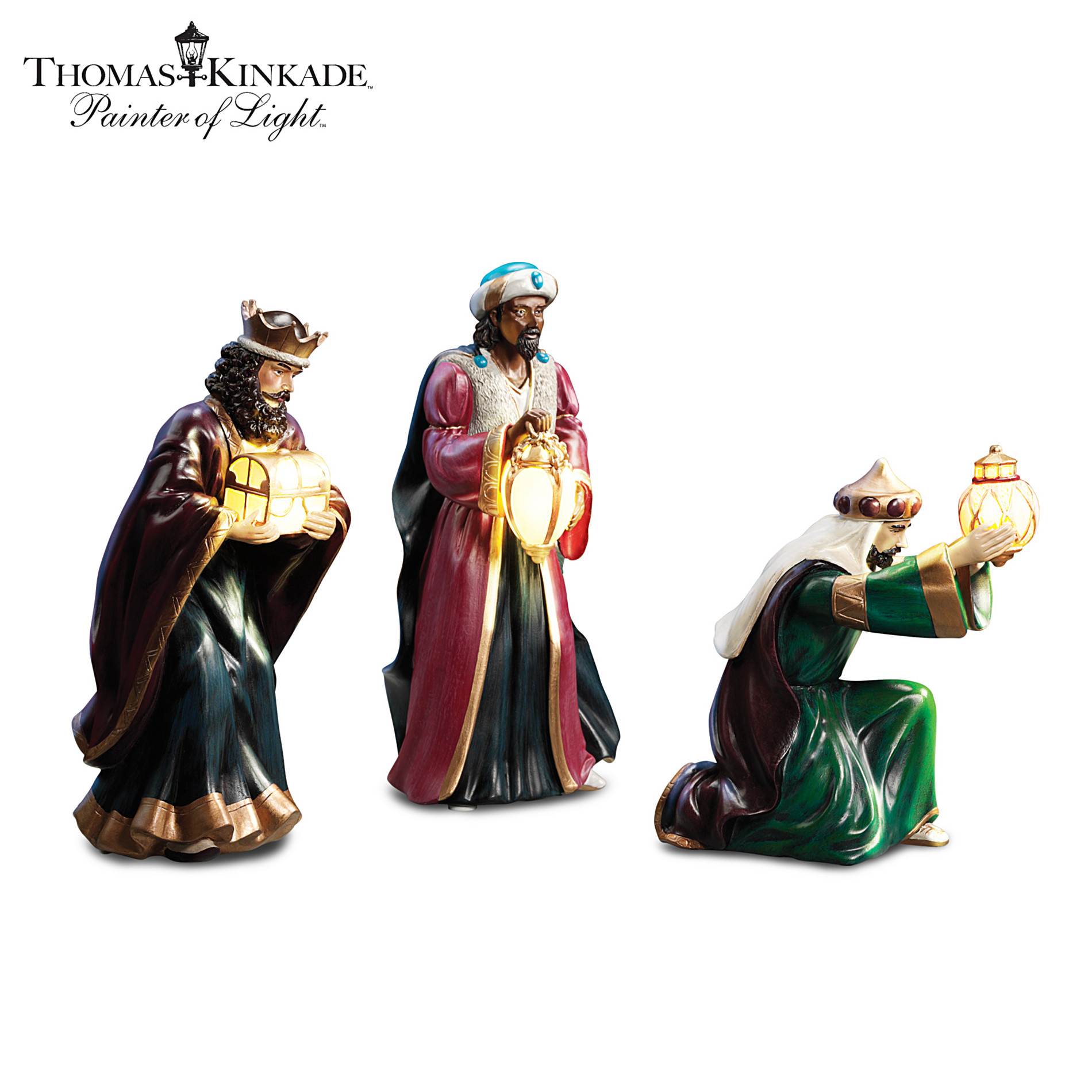Hawthorne Village Figurine Set: Thomas Kinkade Light From Within Illuminated Three Kings Set at Sears.com