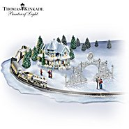 Hawthorne Village Thomas Kinkade 25th Anniversary Village And Train Set at Sears.com