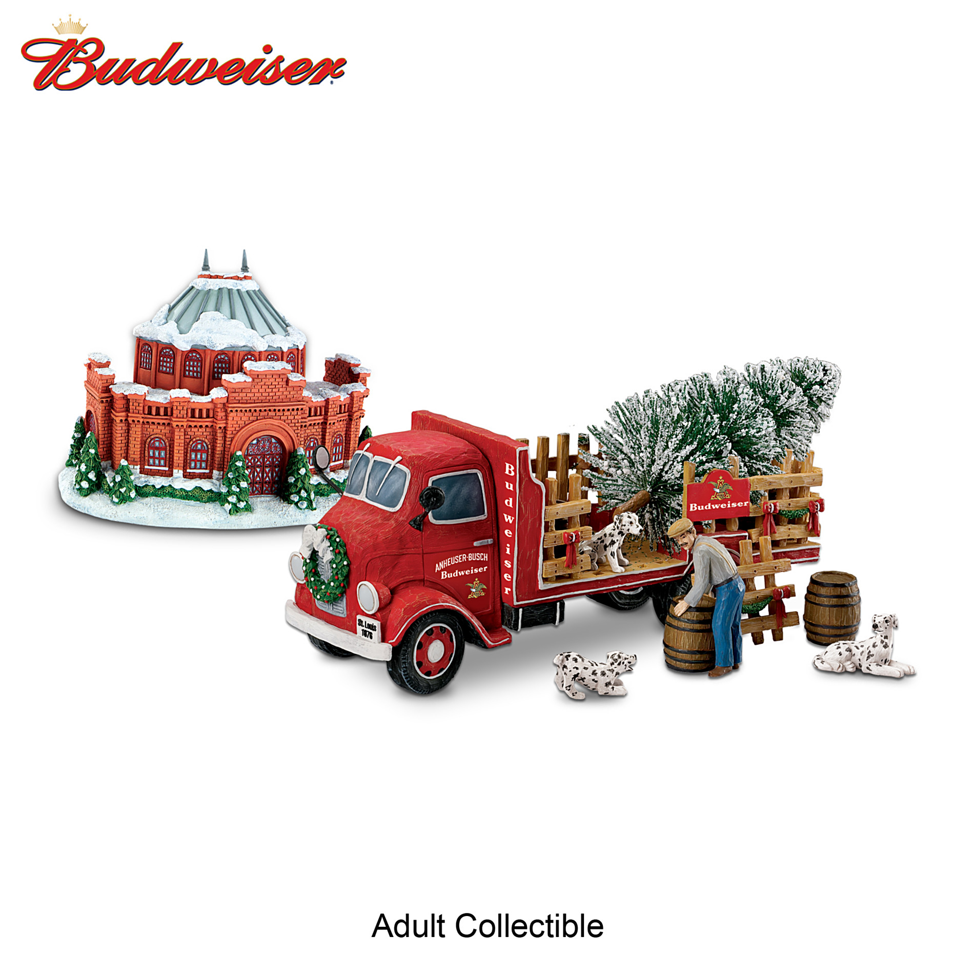 Hawthorne Village Budweiser Happy Holidays Delivery Truck 2012 Sculpture at Sears.com