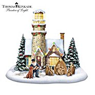 Hawthorne Village Sculpture: Thomas Kinkade Light Of Christmas Lighthouse Sculpture at Sears.com