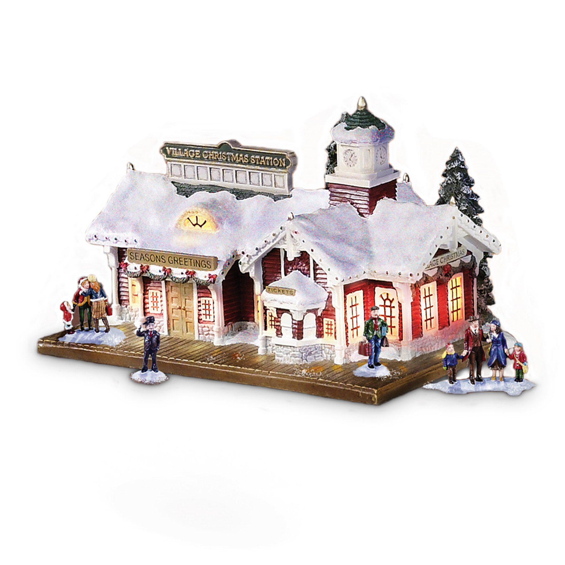 Hawthorne Village Village Christmas Lighted And Musical Train Station: Thomas Kinkade Train Accessory at Sears.com