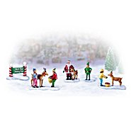 The Bradford Exchange Miniature Christmas Village Figurine Accessory: North Pole Petting Zoo Set at Sears.com