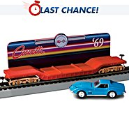Hawthorne Village Flatbed Train Car With A Removable 1969 Corvette Stingray Diecast Car at Sears.com