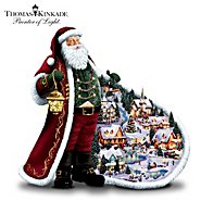 The Bradford Exchange Thomas Kinkade Santa's Holiday Village Figurine: Unique Christmas Decoration at Sears.com