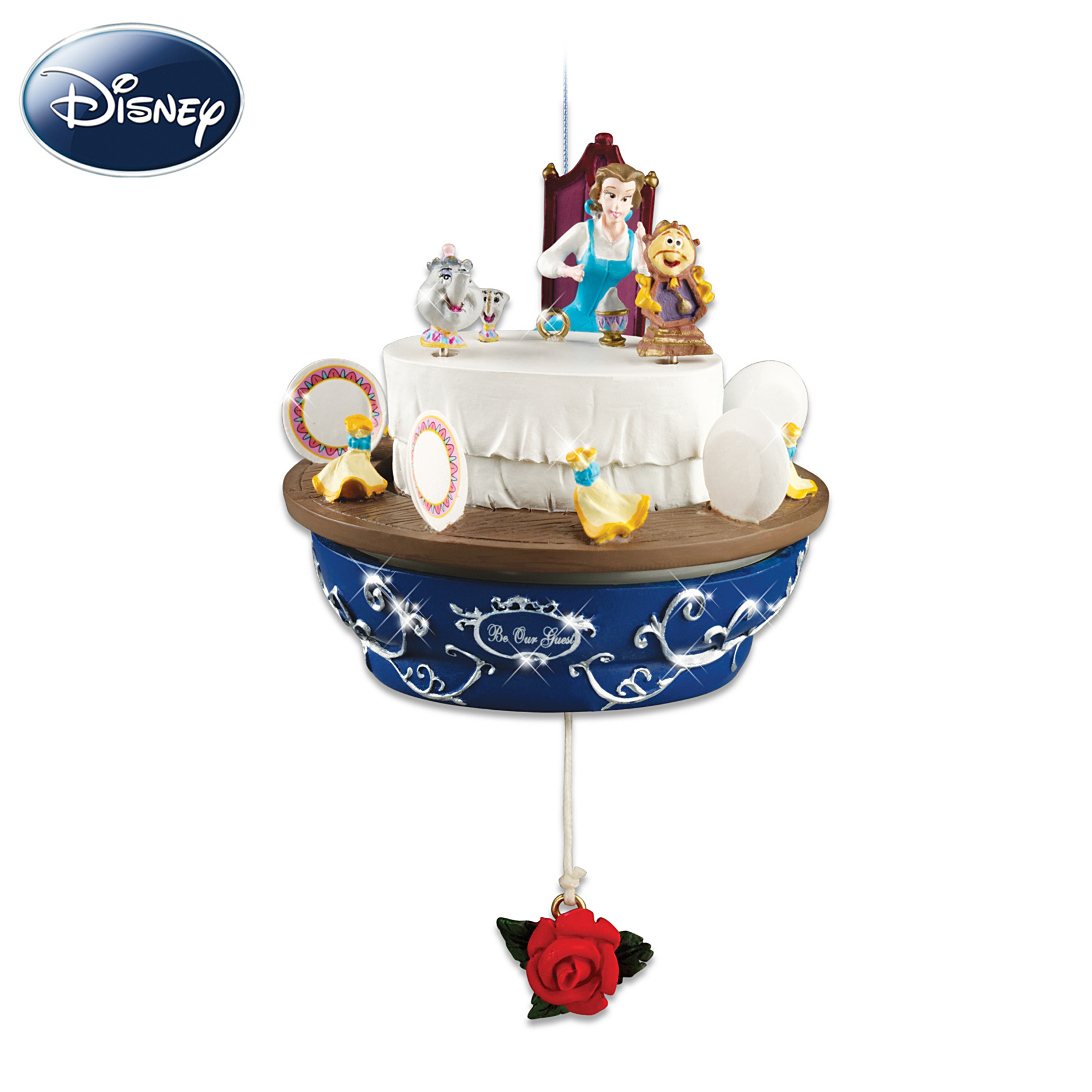 Hawthorne Village Disney Beauty And The Beast Christmas Ornament: Belle Be Our Guest at Sears.com