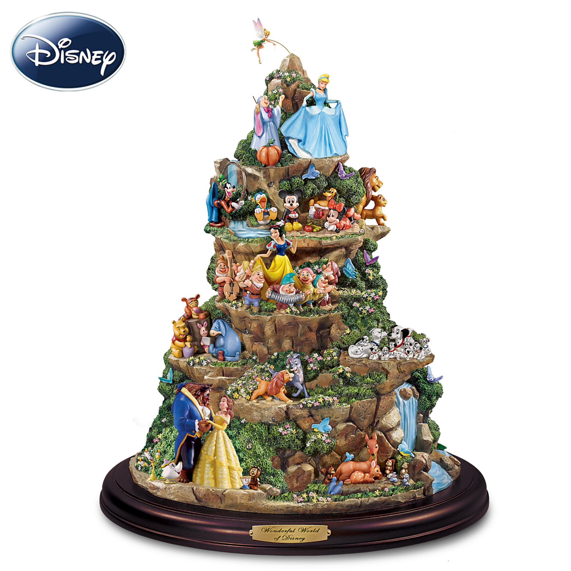 The Bradford Editions The Wonderful World Of Disney Sculpture: Tabletop Disney Decoration at Sears.com