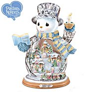 The Bradford Editions Precious Moments Holiday Joy Crystal Snowman Figurine: Unique Christmas Decoration at Sears.com