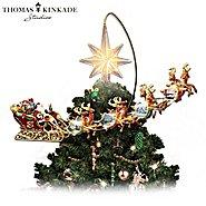 The Bradford Editions Thomas Kinkade Holidays in Motion Rotating Illuminated Tree Topper: Animated Christmas Decor at Sears.com