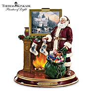 The Bradford Exchange Thomas Kinkade Illuminated Santa Claus Tabletop Figurine: Light Up The Holidays at Sears.com