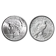 "Bradford Authenticated Silver Dollar: 1935 ""4 Ray"" Peace Silver Dollar Coin at Sears.com"