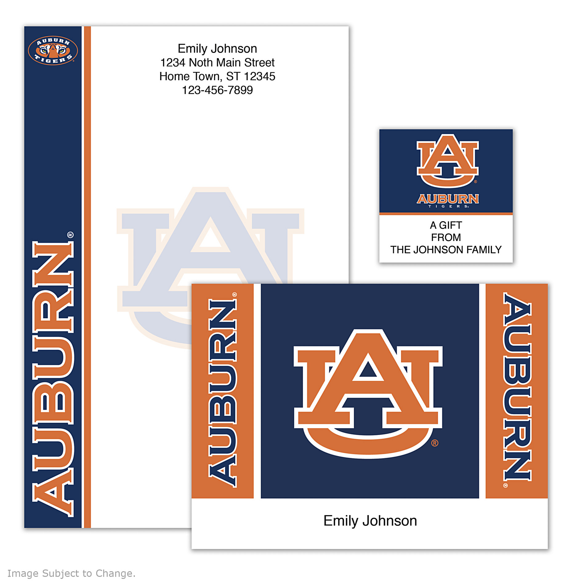 The Bradford Exchange Checks Auburn University Personalized Stationery at Sears.com