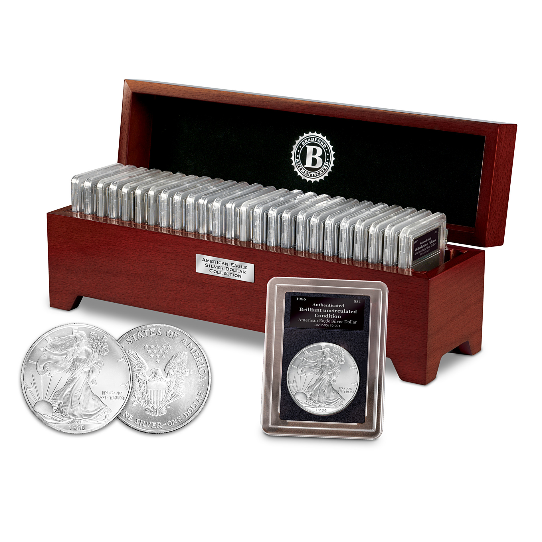 Bradford Authenticated Complete American Eagle Silver Dollar Coin Collection at Sears.com
