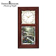 The Bradford Exchange Thomas Kinkade Wall Clock with Stained Glass Art - Time For All Seasons Collection at Sears.com