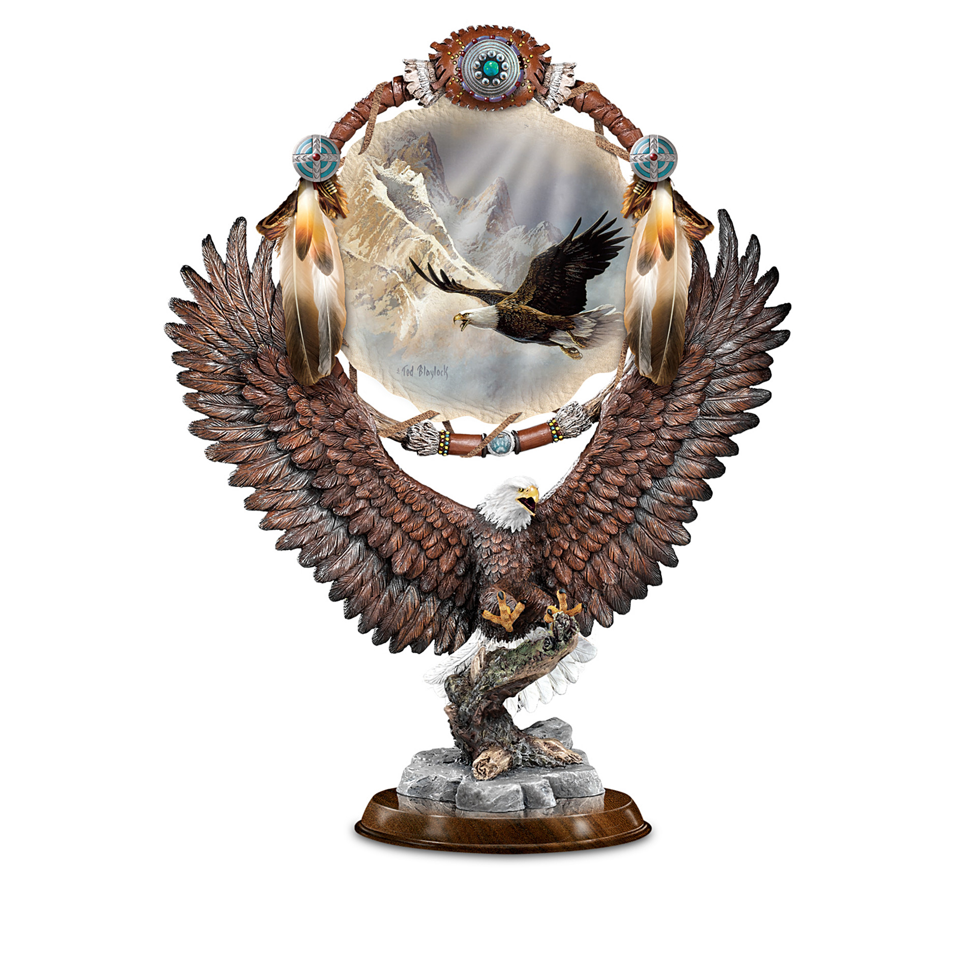 The Bradford Exchange On Wings Of Glory Ted Blaylock Collectible Eagle Art Sculpture Collection at Sears.com