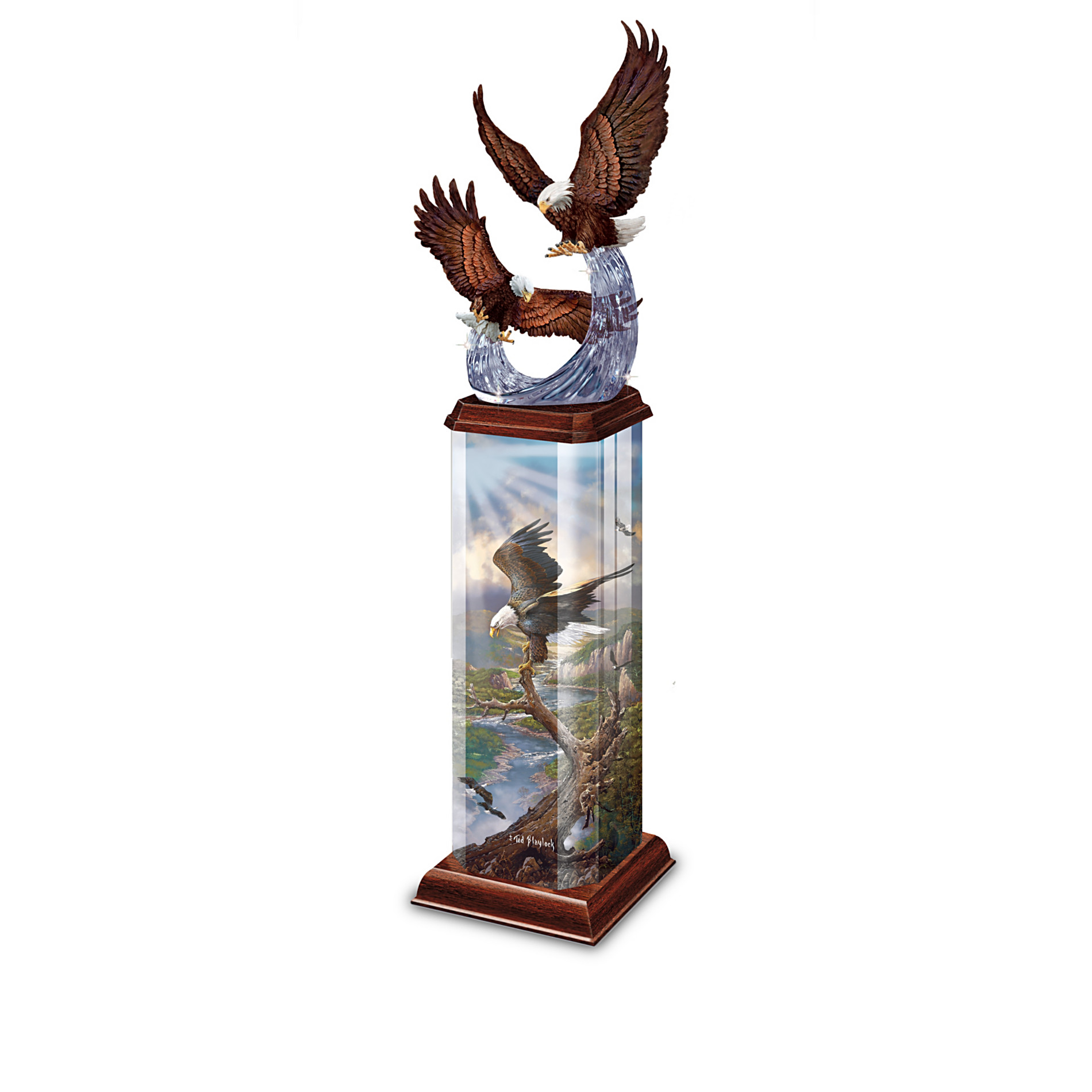 The Bradford Exchange Illuminations Of Majesty Collectible Eagle Art Illuminated Sculpture Collection at Sears.com