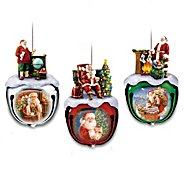 The Bradford Exchange Dona Gelsinger's Santa Sleigh Bells Ornament Collection: Sets Of Three at Sears.com