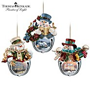 The Bradford Exchange Thomas Kinkade Snow-Bell Holidays Snowman Ornament Collection: Sets Of Three at Sears.com