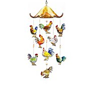 The Bradford Exchange Morning Serenade Rooster Art Glass Hanging Sculpture at Sears.com