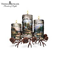 """The Bradford Exchange Thomas Kinkade """"The End Of A Perfect Day"""" Candleholder Collection at Sears.com"""