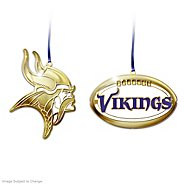 The Bradford Exchange The Official 50th Anniversary Minnesota Vikings Brass Ornament Collection at Sears.com