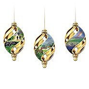 The Bradford Exchange Irish Christmas Blessings Swirl Ornament Collection: Sets Of Three at Sears.com