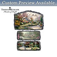 The Bradford Exchange Thomas Kinkade Warm Welcome Personalized Wall Decor Collection at Sears.com