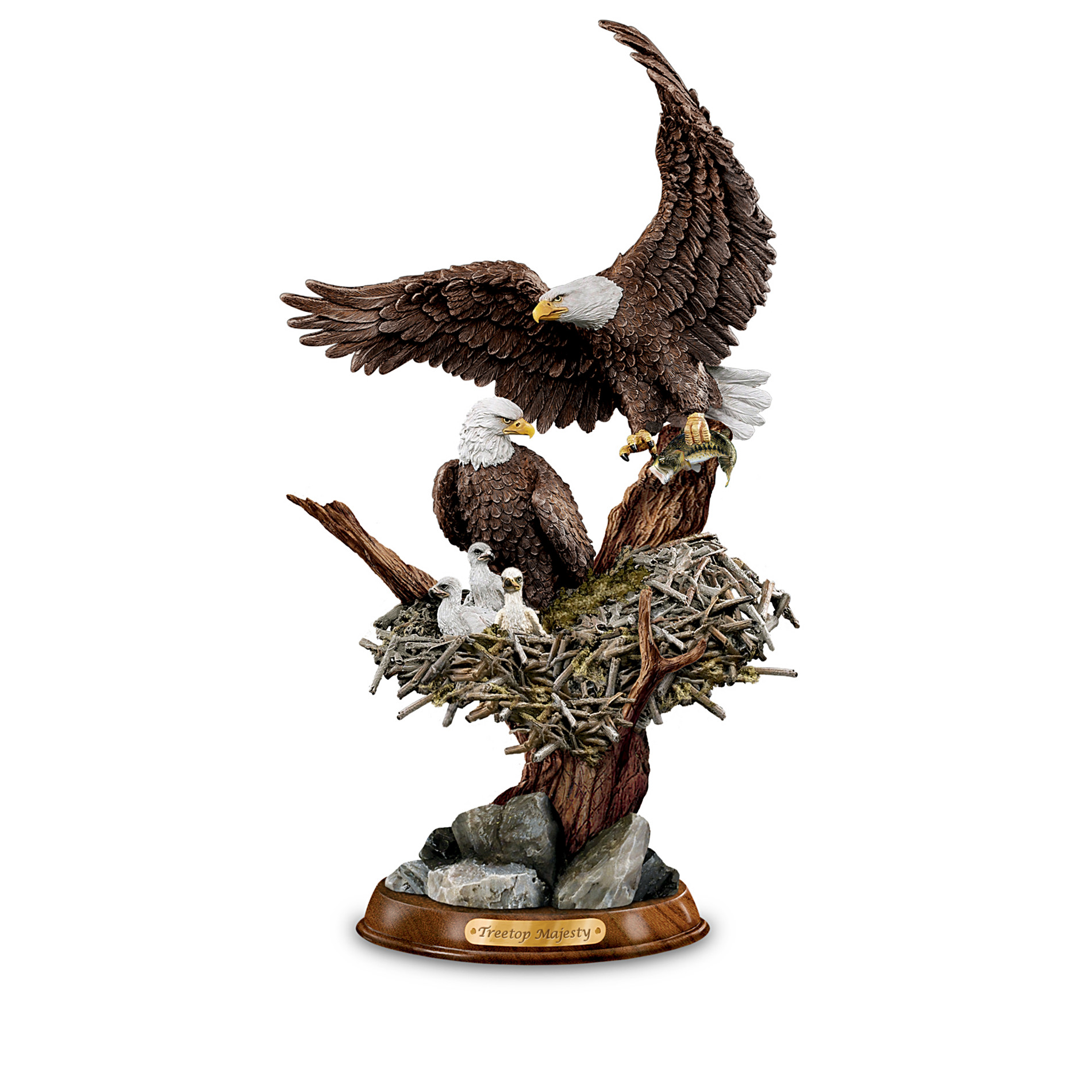 "The Bradford Exchange ""Eagle Cam""-Inspired American Bald Eagle Sculpture Collection: Protectors Of The Nest at Sears.com"