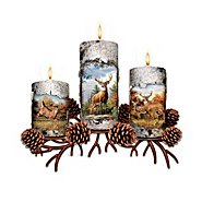 The Bradford Exchange Deer Art Candleholder Collection: Pride Of The Forest at Sears.com