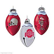 The Bradford Exchange The Ohio State University Buckeyes FootBells Ornament Collection at Sears.com