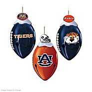 The Bradford Exchange Auburn Tigers FootBells Christmas Ornament Collection at Sears.com