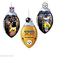 The Bradford Exchange Pittsburgh Steelers FootBells Ornament Collection at Sears.com