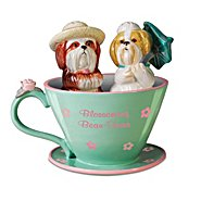 The Bradford Exchange Salt & Pepper Shakers: A Dash Of Delight Shih Tzu Salt & Pepper Shaker Collection at Sears.com