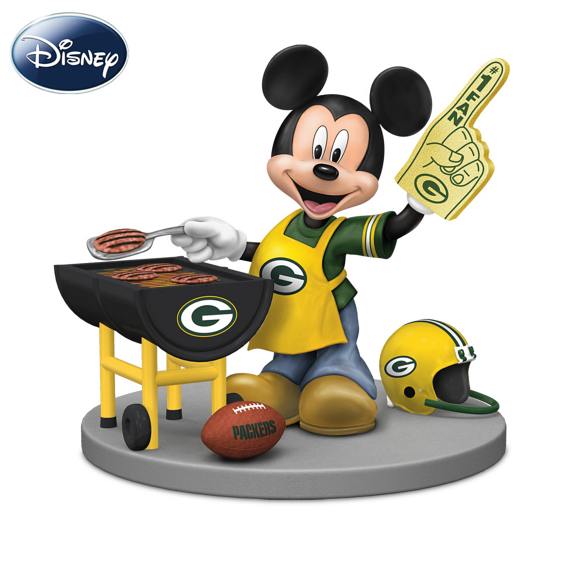 The Hamilton Collection Disney Green Bay Packers Tailgating Fun With Mickey & Friends Figurine Collection at Sears.com