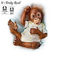The Ashton Drake Galleries Treetop Nursery Baby Doll Lifelike Baby Orangutan Doll Collection at Sears.com