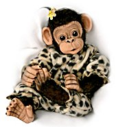 "The Ashton Drake Galleries ""Love To Be Cuddled"" Lifelike Baby Chimpanzee Monkey Doll Collection at Sears.com"