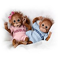 The Ashton Drake Galleries Monkey Dolls: Twice The Fun Monkey Doll Collection at Sears.com