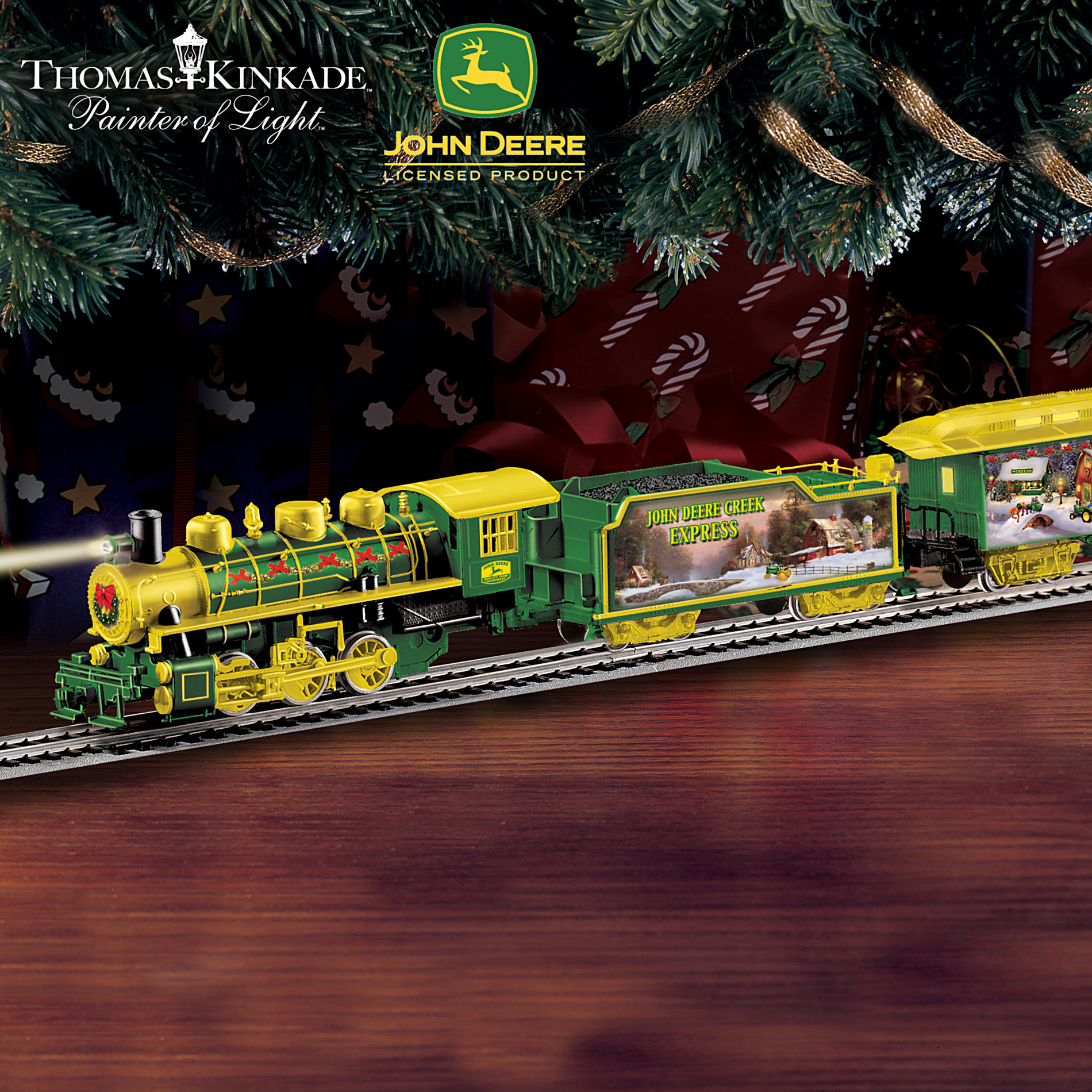 Hawthorne Village Thomas Kinkade John Deere Creek Holiday Express Electric Train Collection at Sears.com