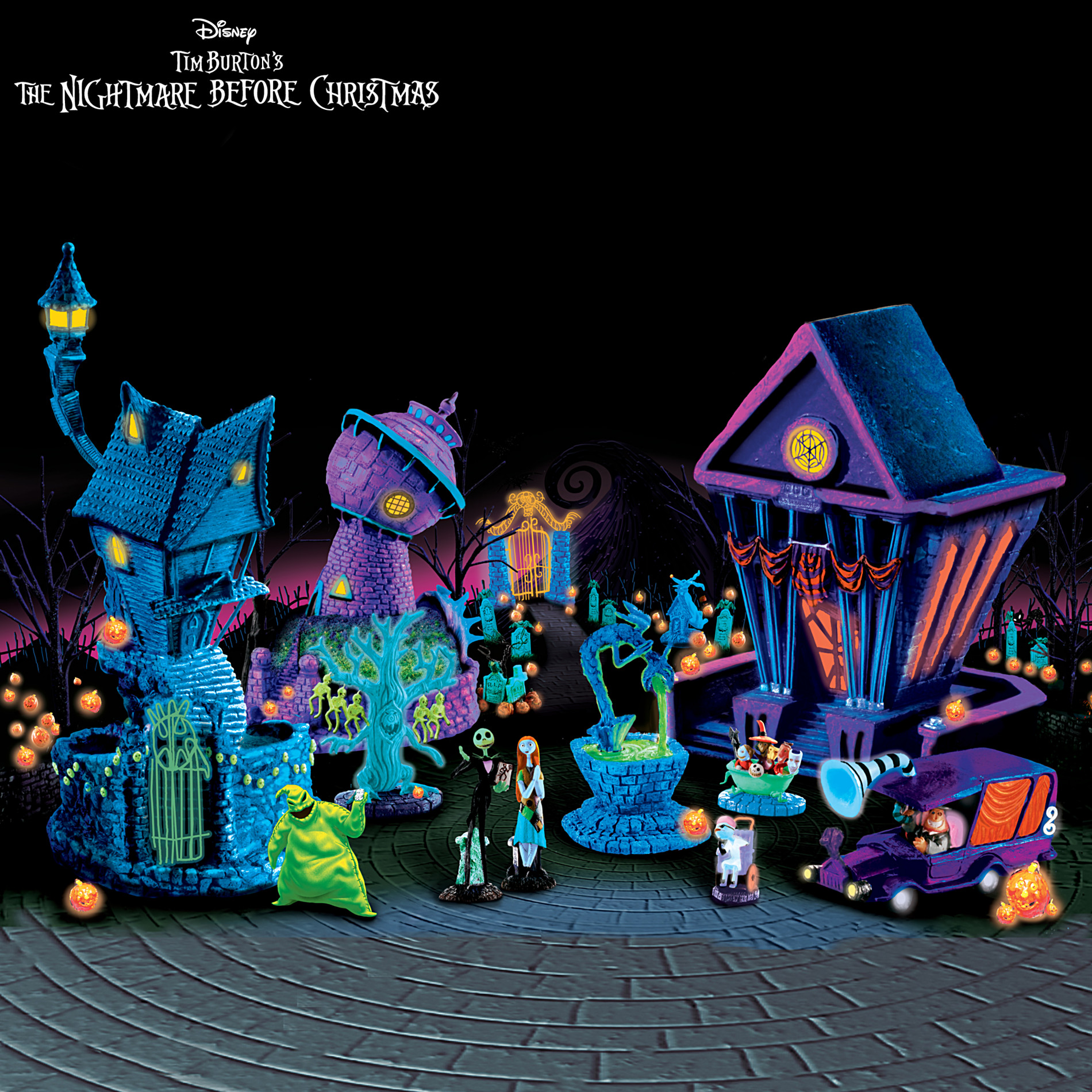 Hawthorne Village Tim Burton's Nightmare Before Christmas Black Light Village Collection at Sears.com
