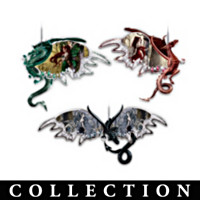 Dragons Of The Mystic Realm Ornament Collection