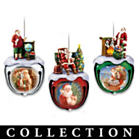 Dona Gelsinger's Santa Ornament Collection: Sets Of Three