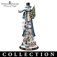 Thomas Kinkade Tall Traditions Snowman Figurine Collection