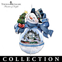 Thomas Kinkade Bringing Holiday Cheer Ornament Collection