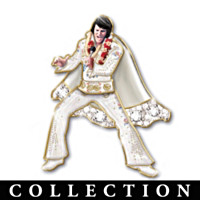 Elvis Rockin' Through The Years Pin Collection