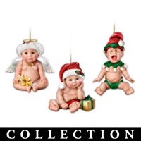 Santa, It's Not Easy Being Cute Ornament Collection